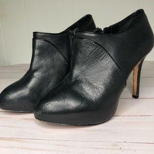 Antonio Melani   Black Leather Booties